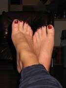 Photos des pieds de Comète, Mes pieds ...
