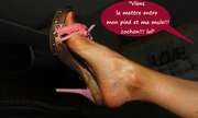 Photos des pieds de Janusmilo, Mes mules en bois (IV)