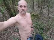 Photos de la bite de Routiergaynatdu85, exib dans un bois